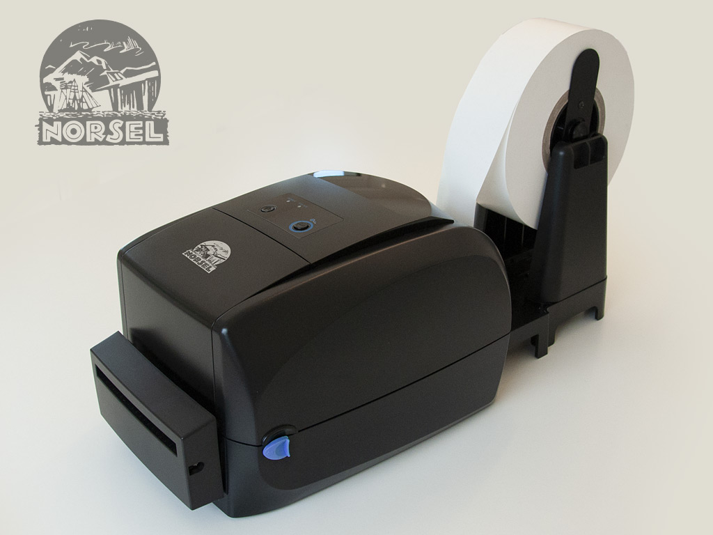 Desktop thermotransfer printer with guillotine cutter - Grey